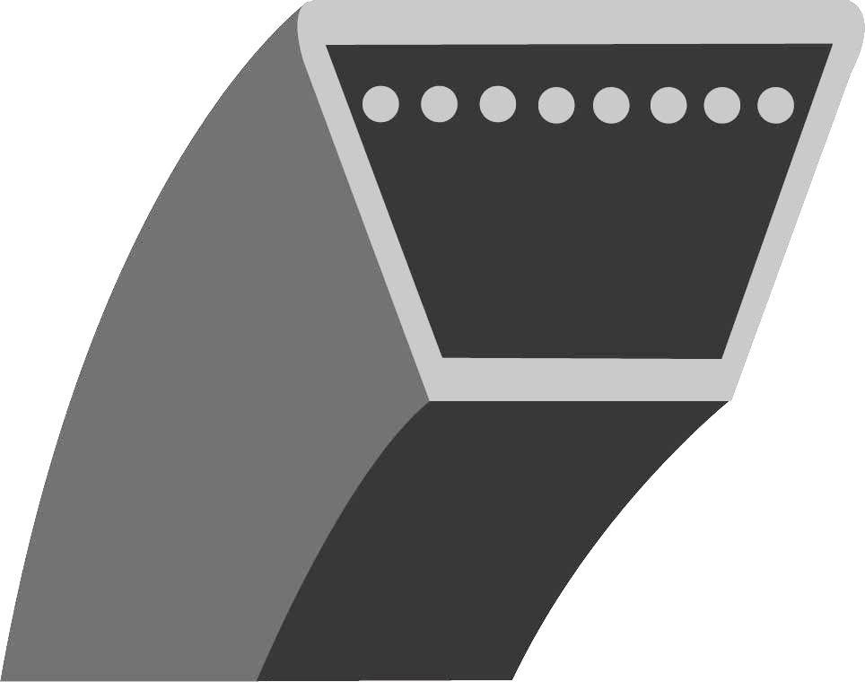 """Klínový řemen (MTD HE4160, JE130/704, RH125/92B - 36"""")"""