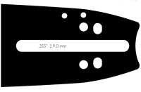 "Pilová lišta,délka 18""(45cm),3/8"",.0,58""(1,5mm),188ATMD009"
