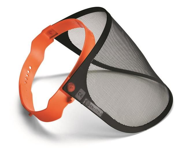 Obličejový ochranný štít s kovovou síťkou