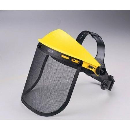 Obličejový ochranný štít s kovovou síťkou -norma CE EN 1731