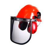 Ochranná přilba se sluchátky a chráničem obličeje