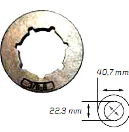Náhradní prstenec ( 3/8 - 8 - STANDART)