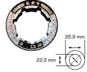"""Náhradní prstenec (STANDART) 3/8"""" 7Z"""